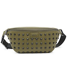 Styla Studded Leather Sling Bag