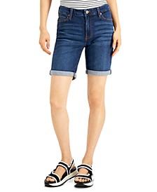 Juniors' Roll-Cuff Bermuda Shorts