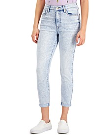 Juniors' Curvy High Rise Skinny Cropped Jeans