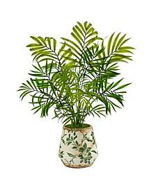 Mini Areca Palm Artificial Plant in Floral Vase