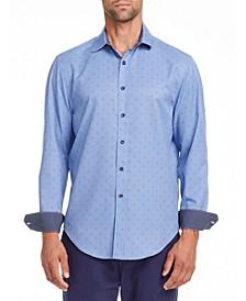 Men's Slim Fit Performance Stretch Texture Long Sleeve Shirt