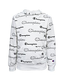 Aop Shadow Script Big Boys Hoodie