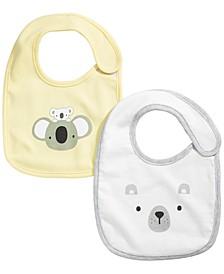 Baby Boys Bear Bib Set, Created for Macy's
