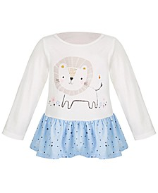 Toddler Girls Long Sleeve Cotton Lion Tunic, Created for Macy's