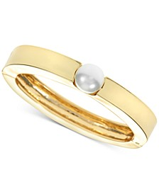 Gold-Tone Imitation Pearl Bangle Bracelet, Created for Macy's
