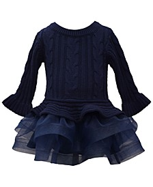 Baby Girls Cable Sweater Dress
