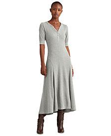 Lauren Ralph Lauren Henley Fit-And-Flare Dress