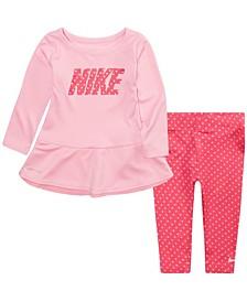 Baby Girls Dri-FIT Top and Leggings Set