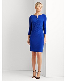 Wrap-Style Jersey Dress