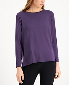 Tencel Crewneck Knit Top