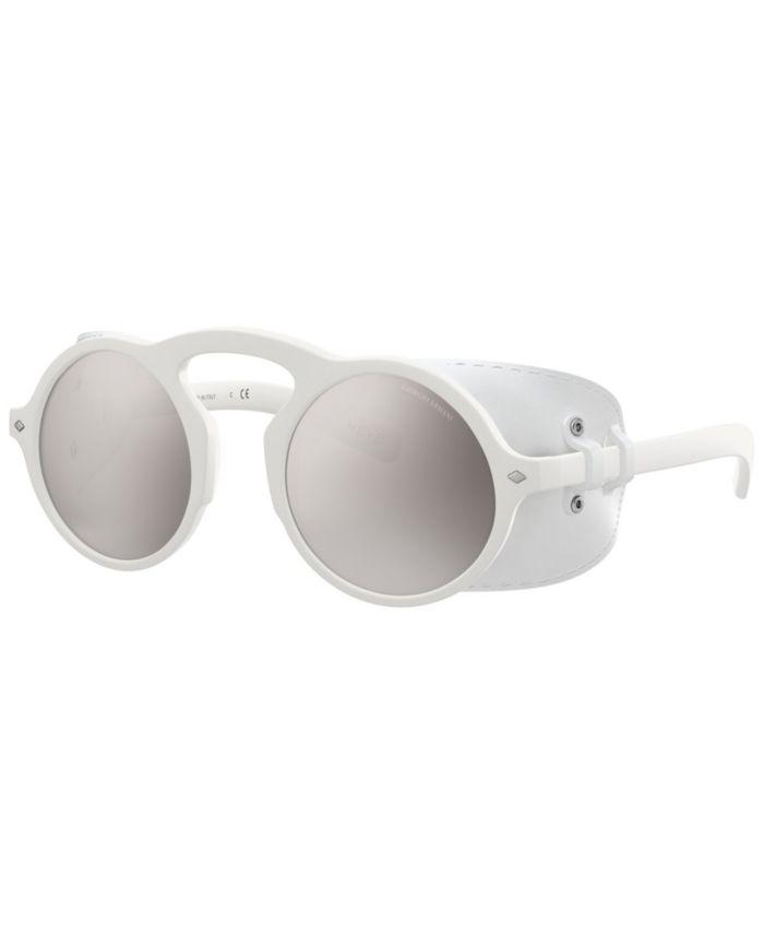 Giorgio Armani Sunglasses, AR8143Q 49 & Reviews - Sunglasses by Sunglass Hut - Men - Macy's