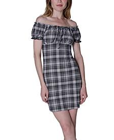 Juniors' Emma Off-The-Shoulder Dress