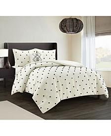 America Lexi 4 Piece Comforter Set, Full/Queen