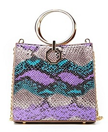 Snakeskin Gold-Tone Ring Mini Handbag