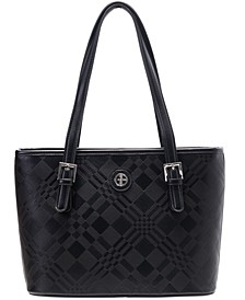 Plaid Embossed Tote, Created for Macy's