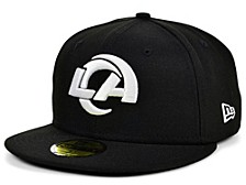Los Angeles Rams Black And White 59FIFTY Cap
