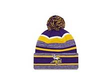 Minnesota Vikings Striped Marled Knit Hat