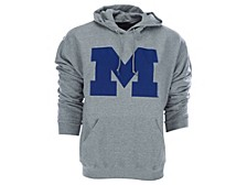 Michigan Wolverines Men's Big Logo Screen print Hooded Sweatshirt