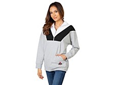 UG Apparel Ohio State Buckeyes Women's Colorblock Quarter-Zip Pullover