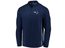 New England Patriots Men's Clutch Modern Quarter Zip Pullover