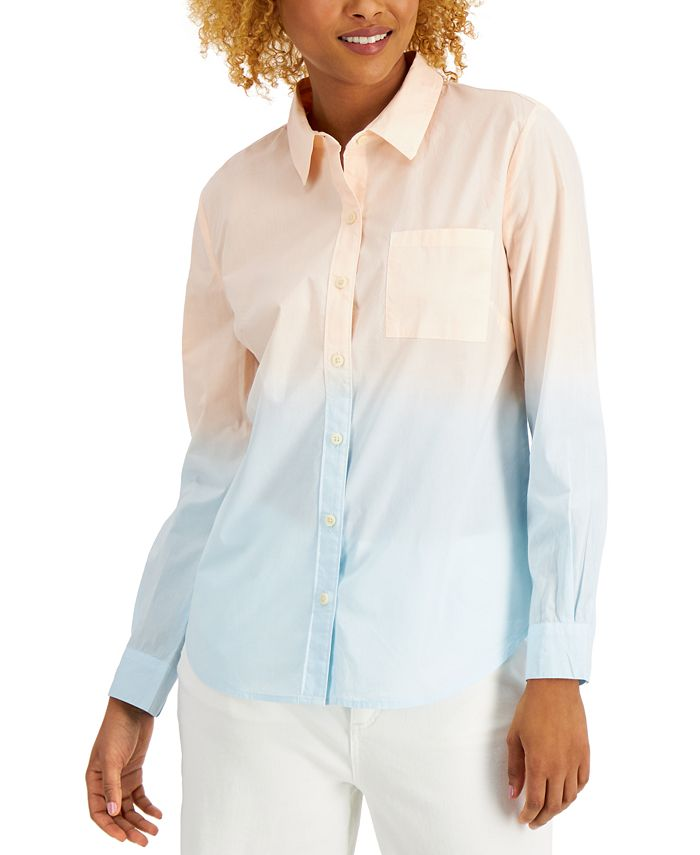 Style & Co - Cotton Printed Button-Down Shirt