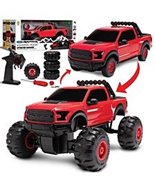 Monster Garage Remote Control Tire Swap 2-in-1 Custom Building Set