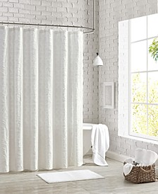 """Clipped Floral Shower Curtain, 72"""" x 72"""""""