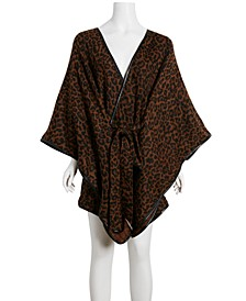 Belted Leopard Cape
