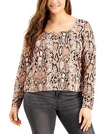 Trendy Plus Size Square-Neck T-Shirt