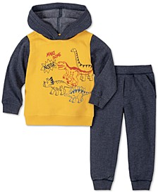Baby Boys 2-Pc. Dino Hoodie & Pants Set