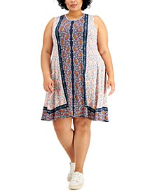 Plus Size Printed Flip-Flop Dress, Created for Macy's