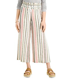 Juniors' Cropped Wide-Leg Pants