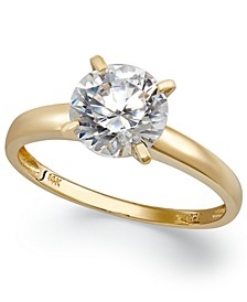 14k Gold Swarovski Zirconia Solitaire Ring (3-1/2 ct. t.w.)