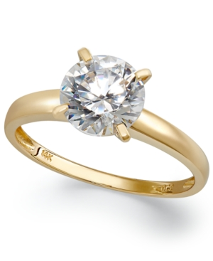 14k Gold Cubic Zirconia Solitaire Ring (3-1/2 ct. t.w.)