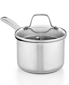 Classic Stainless Steel 1.5 Qt. Covered Saucepan