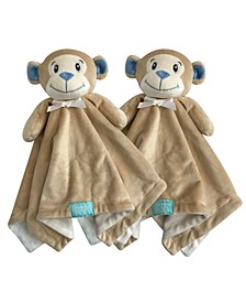 """Snoogie Boo 2-Pack Lovey and Security Blanket with Stuffed Animal Style, 18"""" x 18"""""""