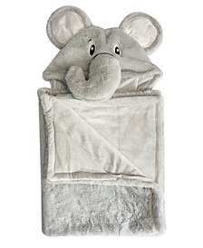 """Snoogie Boo Ultra-soft Baby Faux Fur Hooded Towel, 30"""" x 36"""""""