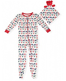 Baby Boys Holiday Coverall with Blankie Baby