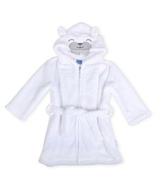 Toddler Boys Tie Front Bear Hood Robe