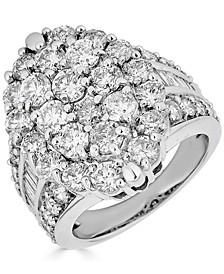 Diamond Cluster Ring (5 ct. t.w.) in 14k White Gold