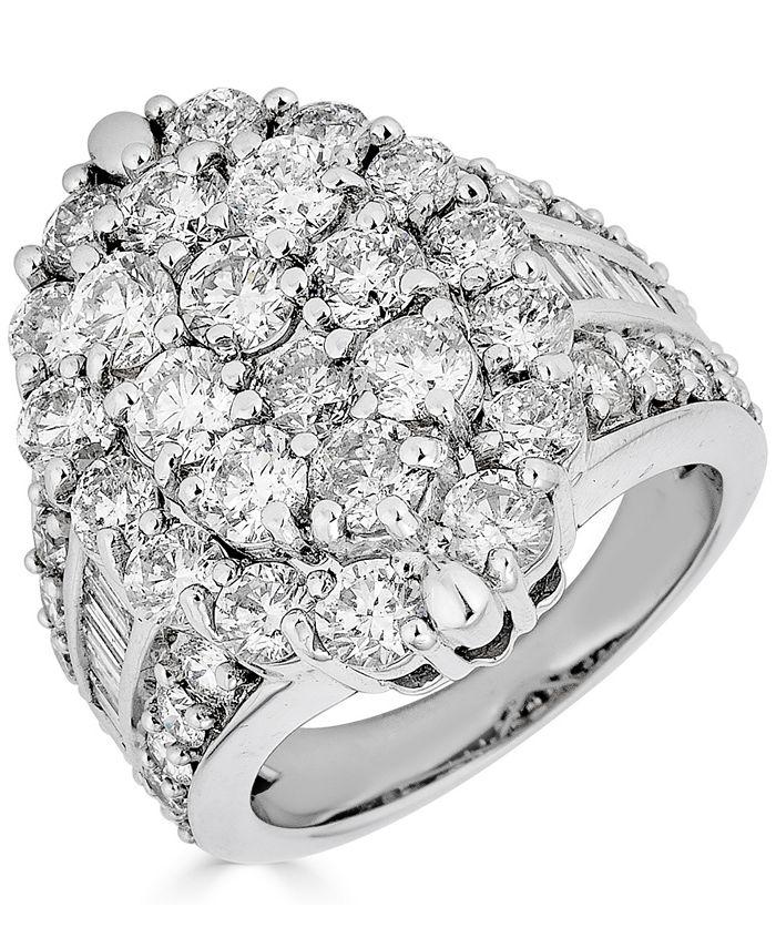 Macy's - Diamond Cluster Ring (5 ct. t.w.) in 14k White Gold