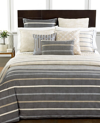 Hotel Collection Modern Colonnade Comforters, Created for Macy's