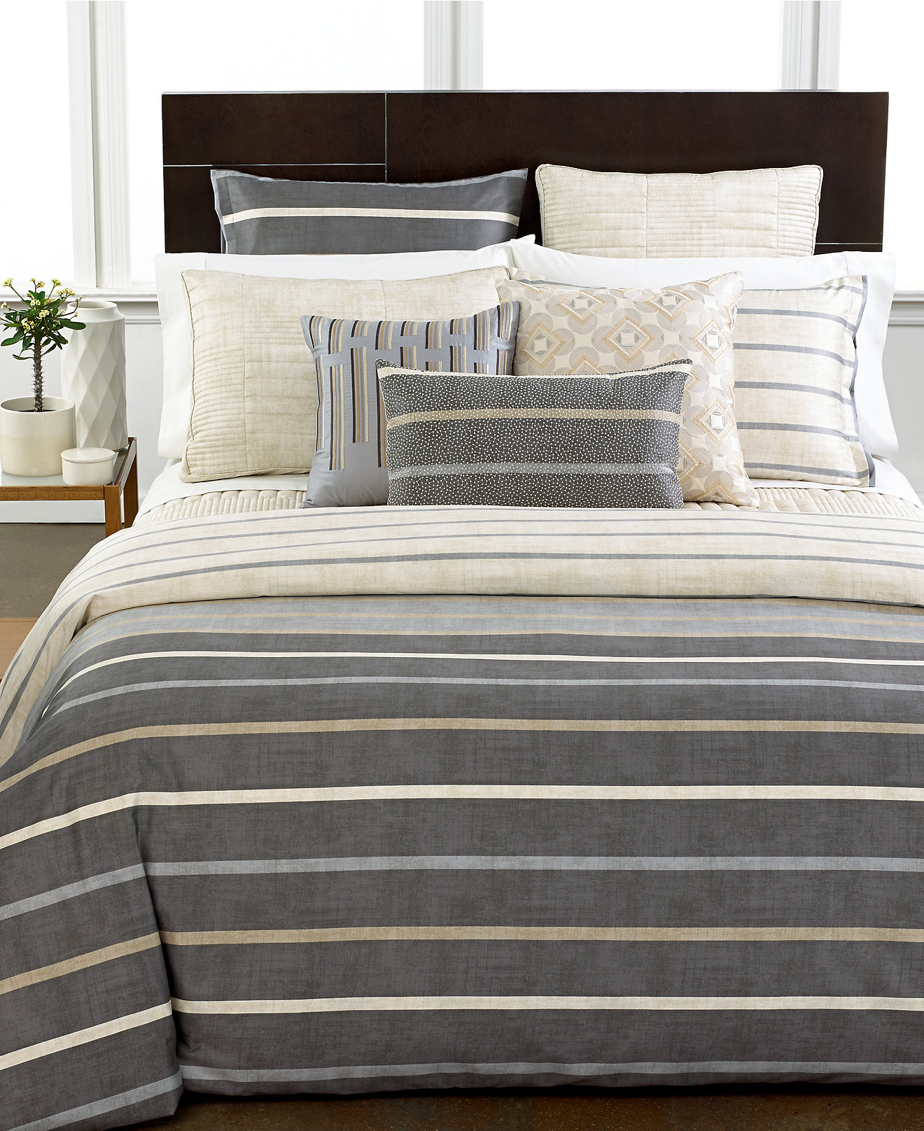 duvet covers  macy's - hotel collection modern colonnade duvet covers created for macy's