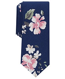 Men's Holt Skinny Floral Tie, Created for Macy's
