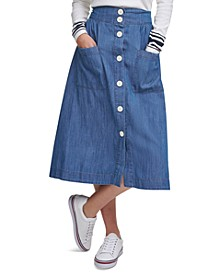 Chambray Midi Skirt