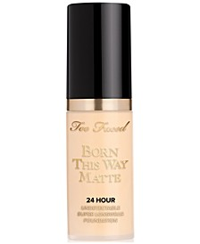 Receive a FREE Trial-Size Born This Way Matte 24 Hour Foundation with any $35 Too Faced purchase. Choice of 3 Shades!