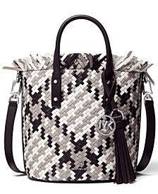 Michael Michael Kors Marley Medium Leather Bucket Messenger Bag
