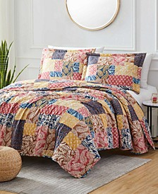 Georgetown Harvest 3-Piece Reversible Quilt Set, Queen