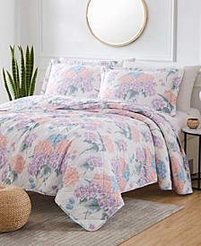 St. Croix Hydrangea 3-Piece Reversible Quilt Set, Queen