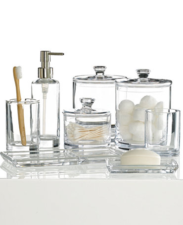 Hotel collection glass bath accessories collection only for Bathroom accessories collection